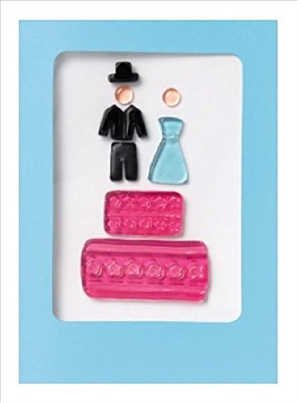 公平ティーム究極のGelGems(ジェルジェム) ジェルジェムグリーティングカード 「 ウェディング 」 E0410029 キャンドル 143x192x5mm (E0410029)