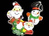【ビニール玩具】 クリスマス 鈴入りダイカットパンチングヨーヨー 12入り