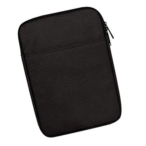 タブレット バッグ ケース インナーバッグ iPad mini1 / 2/3/4 iPad 2/ 3/4他 シンプル デザイン (8インチ, ブラック)