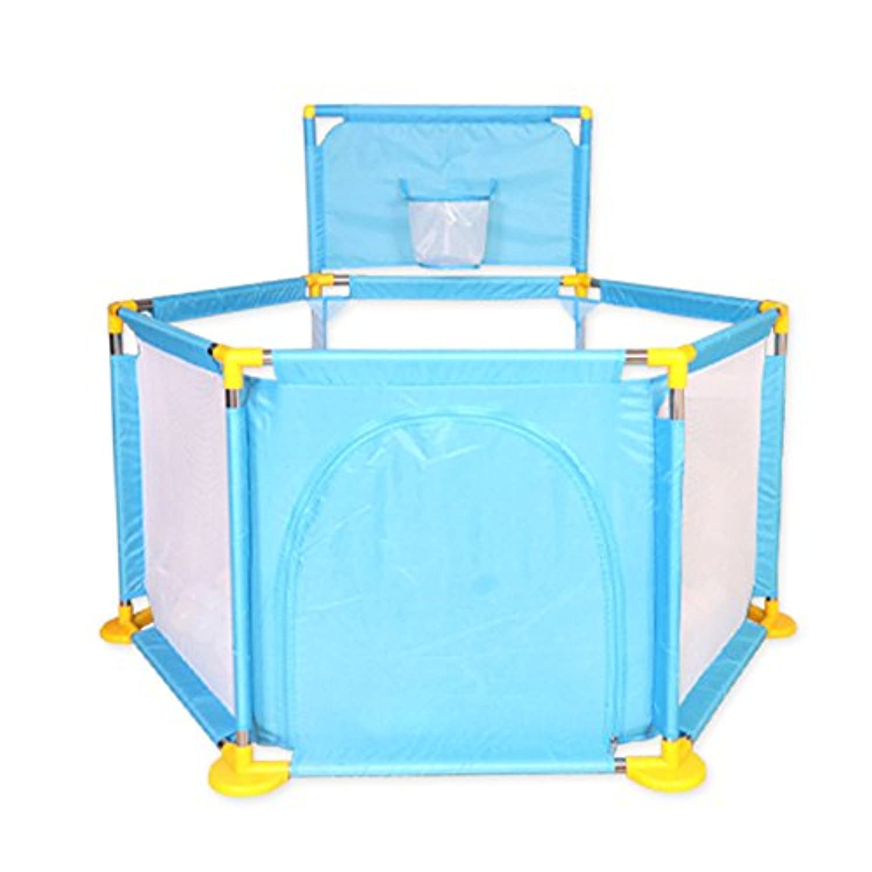 ボールとマット付きのベビープレイペンター幼児用オックスフォード布フェンスアクティビティセンターインドアチャイルドプレイヤード (色 : 6.5cm*500balls)