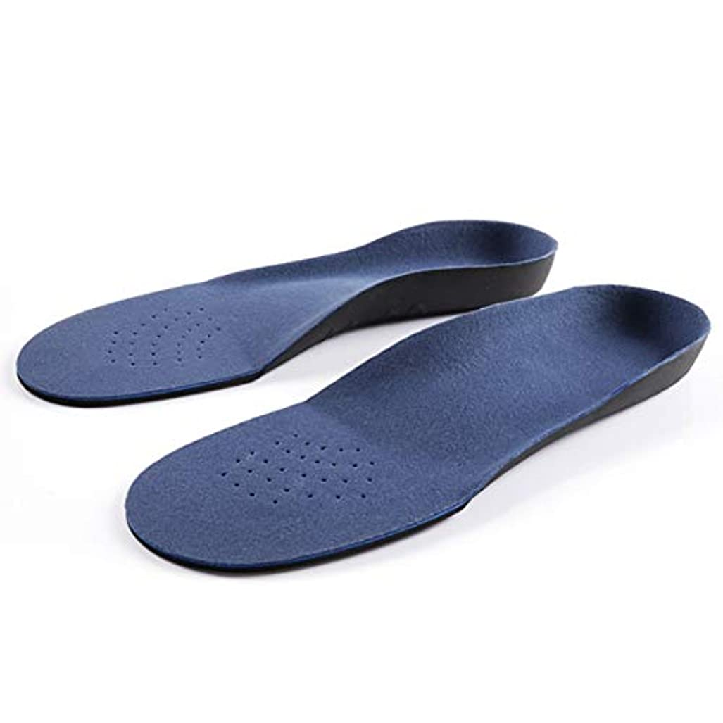 ベッドピニオンキャリア青い衝撃吸収材が付いているアーチサポート平らなフィートの整形外科のインソール-青