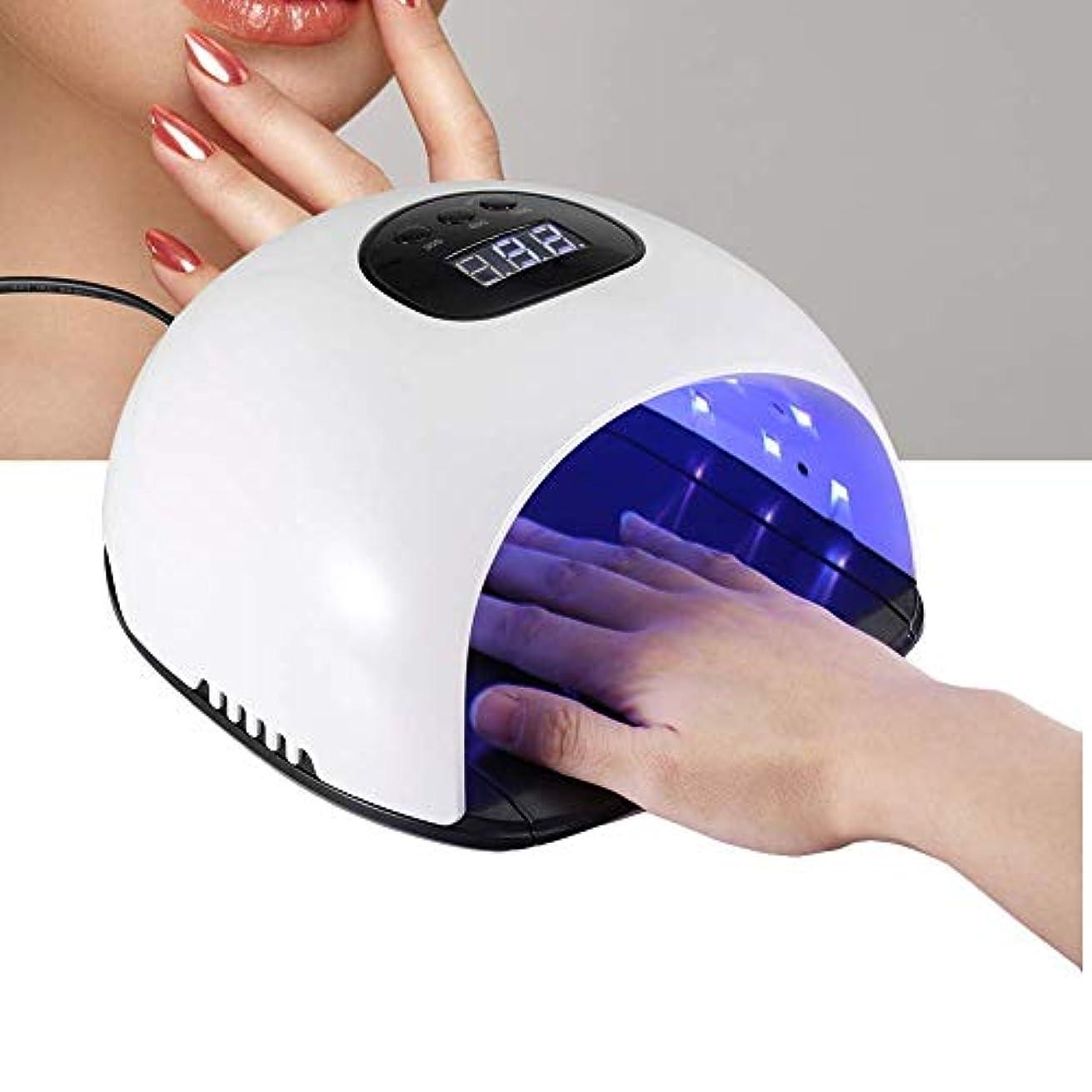 ミリメートルすばらしいです煙ネイルドライヤー 48W 36個LED UV&LED 手足両用 ネイルランプ 365+405mmライト タイマー ジェルネイル用 痛みなし 低温120S(#1)