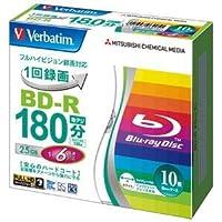 (まとめ) 三菱ケミカルメディア 録画用BD-R 10枚 VBR130RP10V1【×10セット】