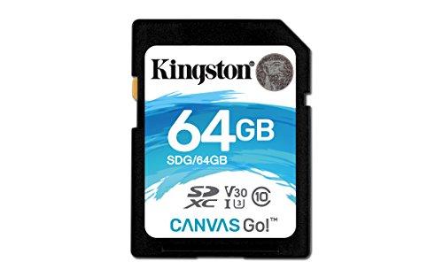 キングストン Kingston SDXCカード 64GB クラス10 UHS-I U3 V30 対応 Canvas Go! SDG/64GB 永久保証