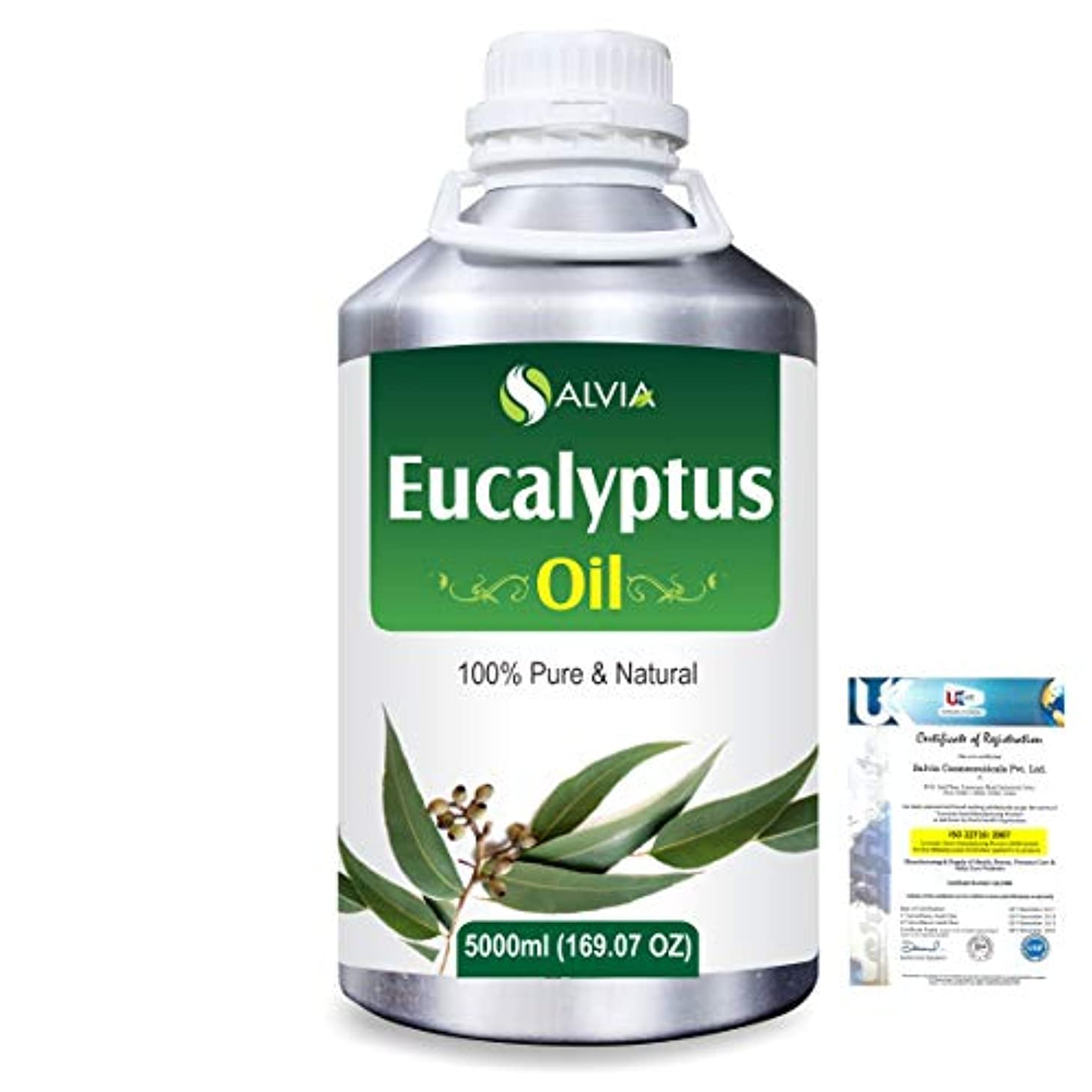 許さない幸運なことによく話されるEucalyptus (Eucalyptus Globulus) 100% Natural Pure Essential Oil 5000ml/169fl.oz.