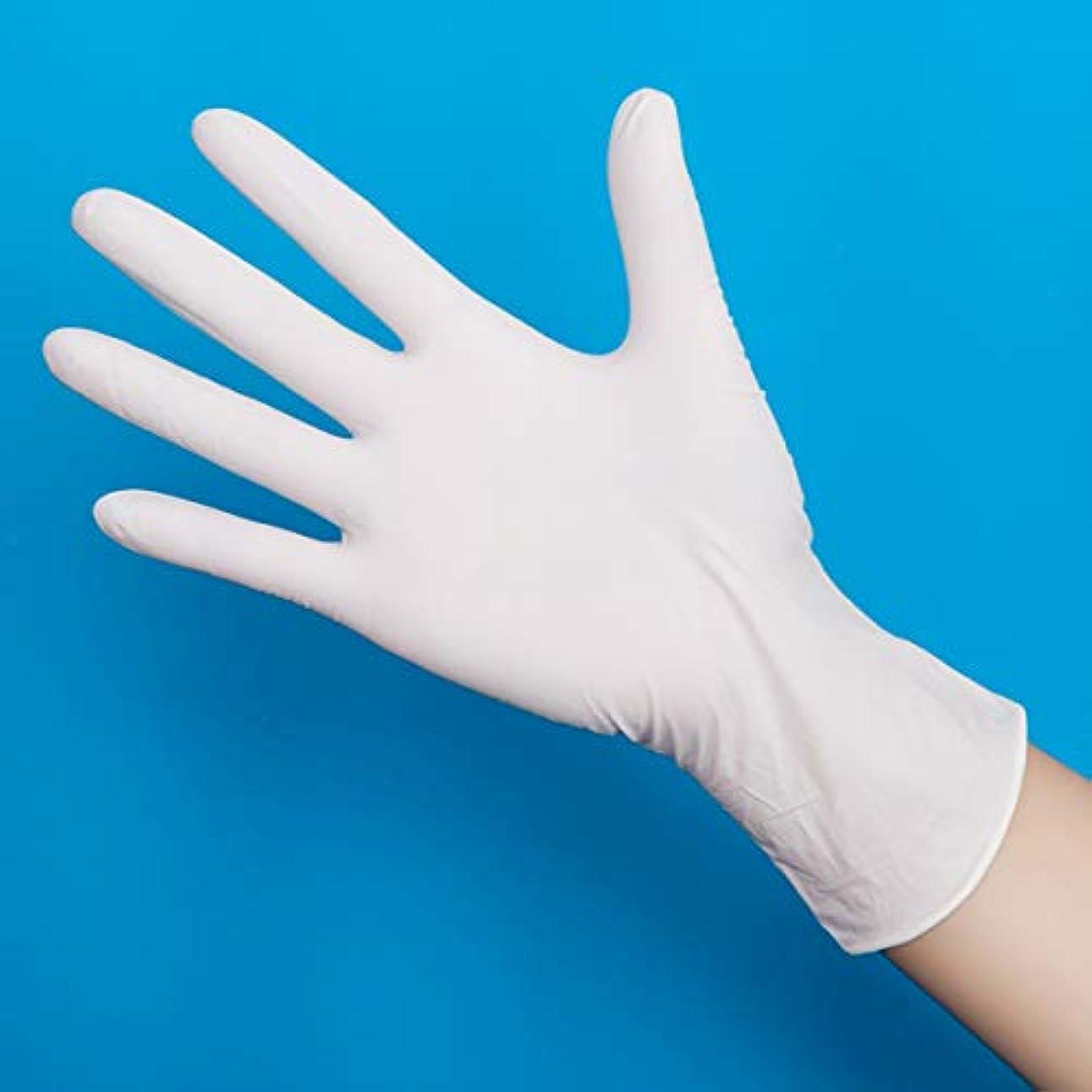 ラビリンス抜け目のない前投薬ニトリルグローブ 使い捨て手袋 グローブ パウダーフリー 作業 介護 調理 炊事 園芸 掃除用,Whitethick100,S