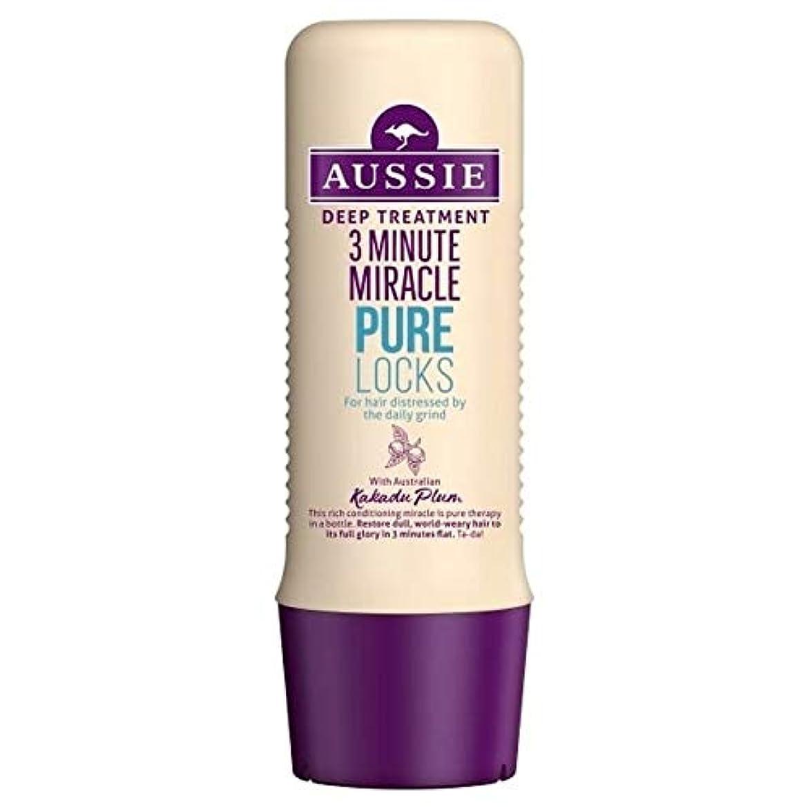 消毒する不毛の宇宙[Aussie ] オーストラリアの純粋なロック3分の奇跡の250ミリリットル - Aussie Pure Locks 3 Minute Miracle 250ml [並行輸入品]