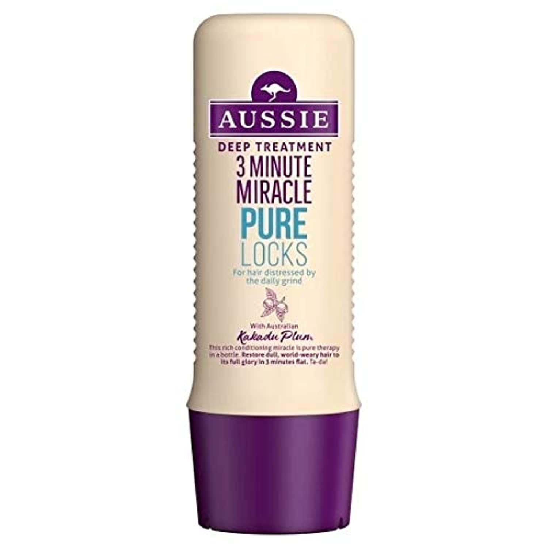 [Aussie ] オーストラリアの純粋なロック3分の奇跡の250ミリリットル - Aussie Pure Locks 3 Minute Miracle 250ml [並行輸入品]