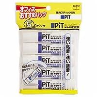 (まとめ) トンボ鉛筆 スティックのり ピットハイパワー S 約10g HCA-511 1パック(5本) 【×10セット】 生活用品 インテリア 雑貨 文具 オフィス用品 テープ 接着用具 [並行輸入品]