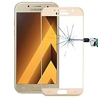 強化フィルム Samsung Galaxy A5(2017)/ A520用0.26mm 9H表面硬度2.5D防爆型フルスクリーン強化ガラスカラースクリーンフィルム 液晶保護フィルム (色 : Gold)