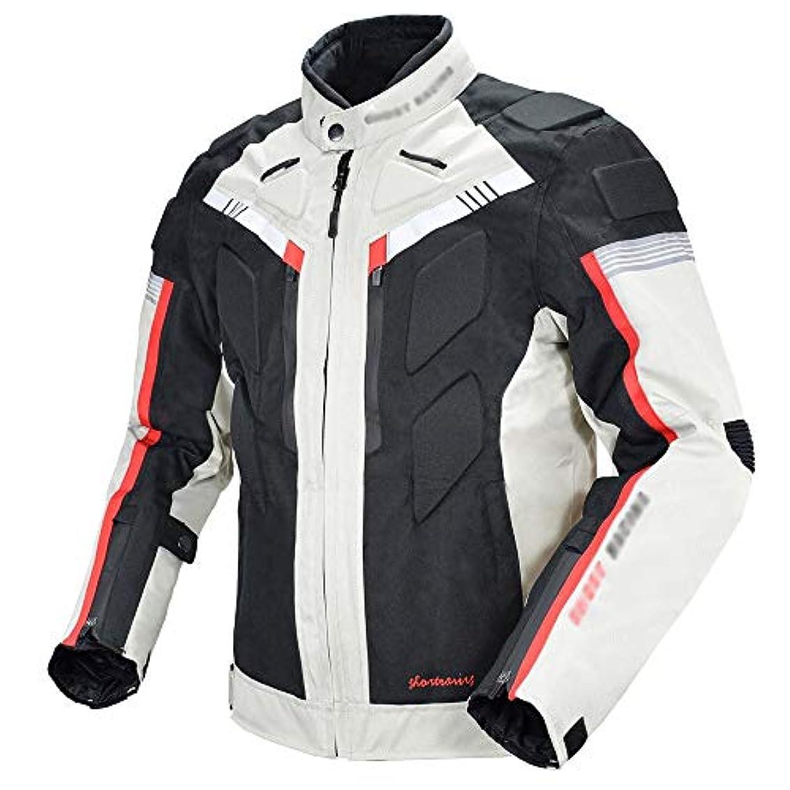 パシフィック編集する逆オートバイジャケット、オートバイジャケット防風フルボディ5保護ギアアーマー男性女性レディース、背骨背部保護プロテクター防水CE装甲(M-3XL)