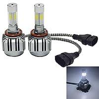 2 PCS WEIYAO V8 H9 / H8 / H11 36W 4800LM 6000Kホワイトライトカー4 COB LEDヘッドライトキット、DC 12-24 V