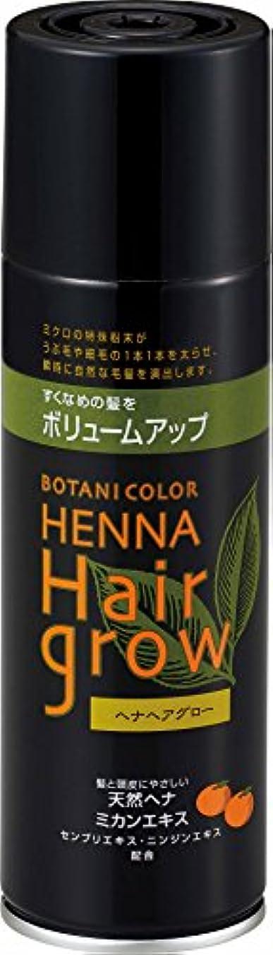 光沢申し立て作りヘナヘアグロー スプレー式染毛料 ブラック 150g