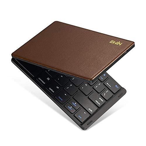 Ewin 新型 Bluetoothキーボード 折りたたみ式 ...