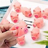 ピンク漫画豚玩具かわいいピギーサウンディングシリコーンガール玩具圧力軽減演奏トリックホームデコレーションおもちゃ50ピース/パック