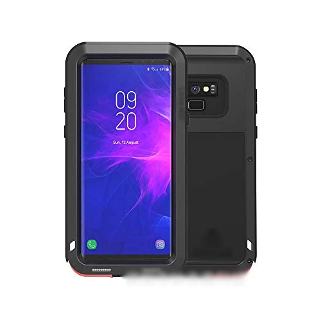ベリー意味のある代替Tonglilili 電話ケース、サムスンS9プラス、S9、注9、S8プラス、注8、S8のための3つの抗金属電話ケース新しい保護カバー粉々になりにくいセット電話ケース (Color : 黒, Edition : Note9)