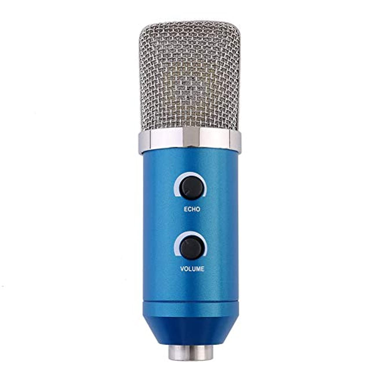 宣言する受け皿恥ずかしいCAheadY USBコンデンサーマイクプロフェッショナルライブストリーミングスタジオ放送マイク音楽ソング - ブルー