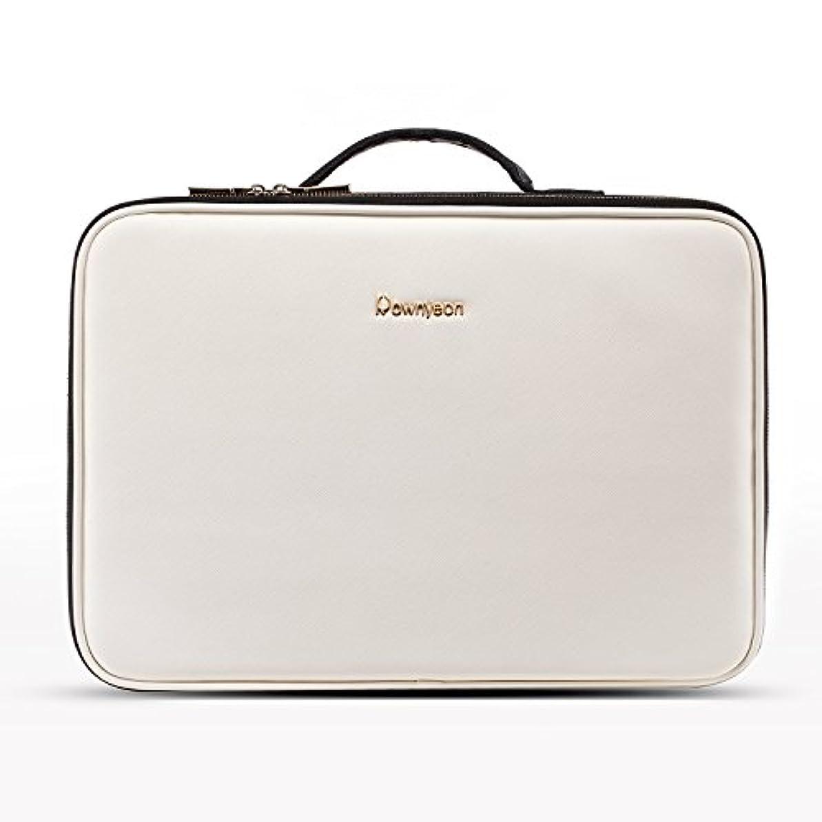 ローブ着服調停するRownyeon プロ用 メイクボックス 大容量 機能的 防水 コスメボックス 化粧ボックス 大きい アーティスト コスメ収納 化粧品 収納 旅行用 スーツケース コスメケース