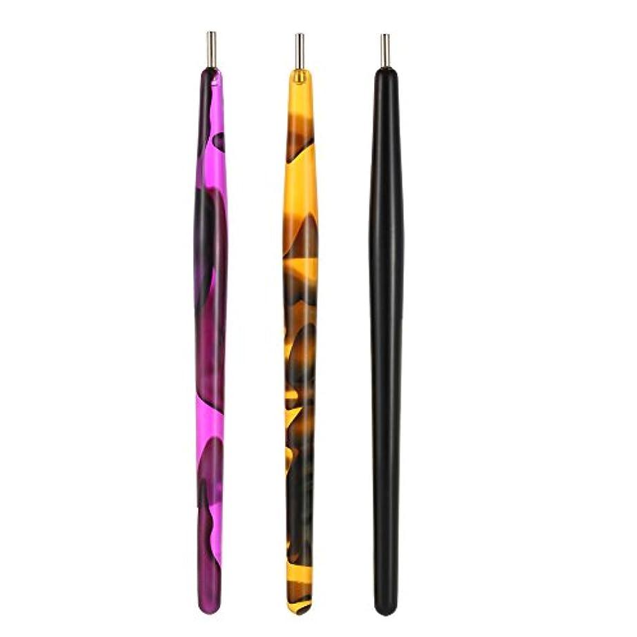 ホイスト薄暗いクランプDecdeal 1本 磁気マグネットペン ネイルアート マジック3D絵画 ドットペン 猫の目のポーランド マニキュアツール DIY