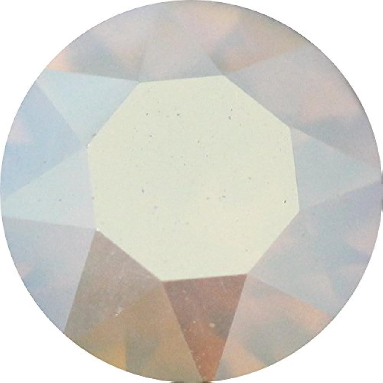 光沢ランタン証明書SWAROVSKI ELEMENTS VカットSS29 ホワイトオパールシマー4P