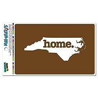 ノースカロライナNC ホーム州 MAG-NEATO'S(TM) ビニールマグネット - 固体褐色