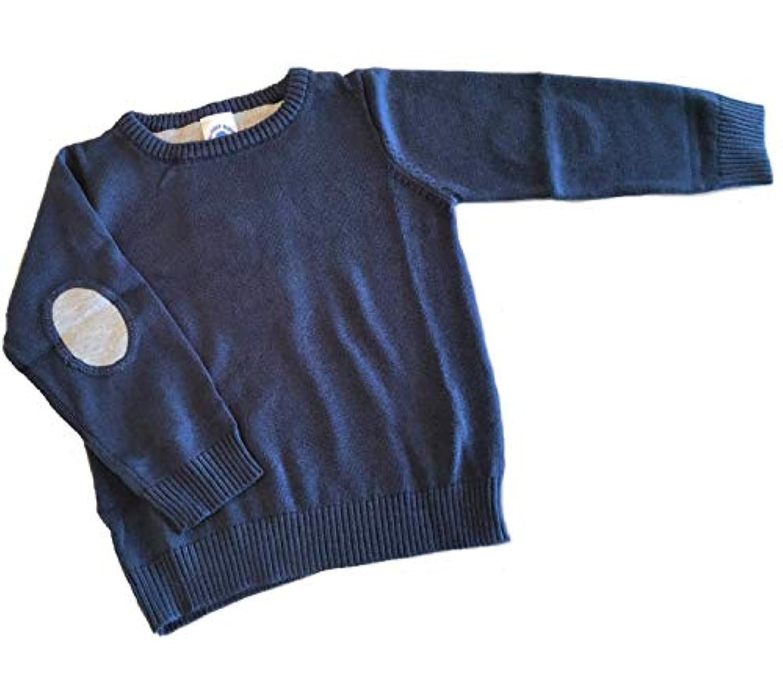 (ラゲッドバッツ)セーター 薄手 ネイビー ベビー 子供服 男の子 綿×アクリル 肘あてがおしゃれ [並行輸入品]