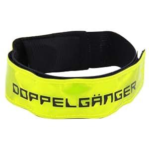 DOPPELGANGER LED裾バンド 自転車・ウォーキング用ポジションライト 4連LED 反射素材採用 防滴仕様 軽量18g [連続点滅200時間] DA020LB