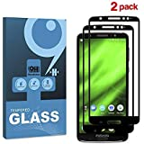 for Motorola Moto G6 Plus 5D Curved Full Coverage Tempered Glass Film Edge to Edge Screen Protector (Black)