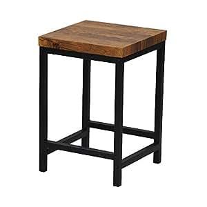 エイ・アイ・エス (AIS) サイドテーブル ブラウン 30×30×44cm ブロンクス ABX-700