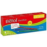 Berol 2057591 Verithin - 色とりどりの色鉛筆(144個入り)
