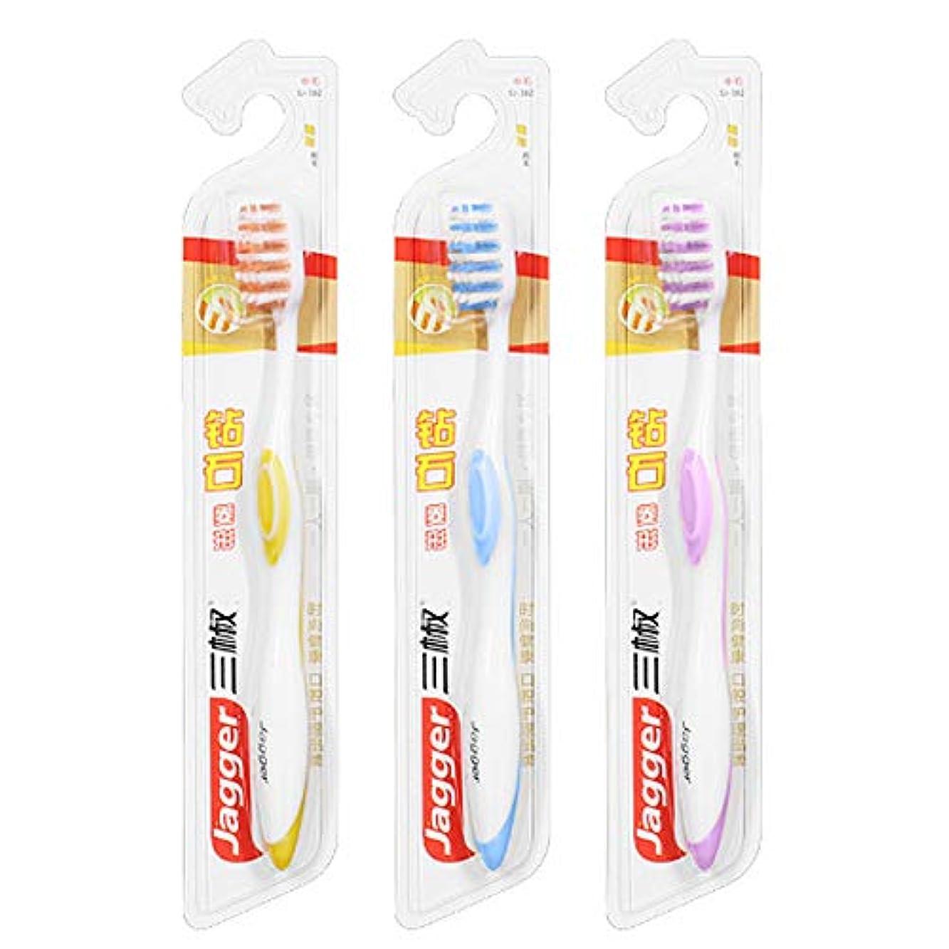 違う感じる疎外する家庭用自給式掃除用歯ブラシ、2色デンタルケア製品、手動歯ブラシ