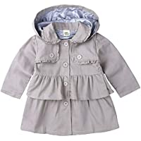SERAPHY Toddler Baby Girls Winter Autumn Warm Trench Coat Cute Anti Cold Wind Hooded Jacket Kids Outerwear Clothes
