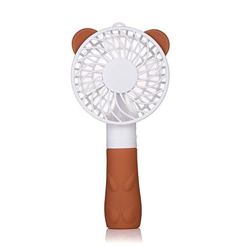 GIZEE 小型 かわいい ベア 韓国ファッションパステル ベビーカー 韓流 ミニ扇風機 充電式 ハ...