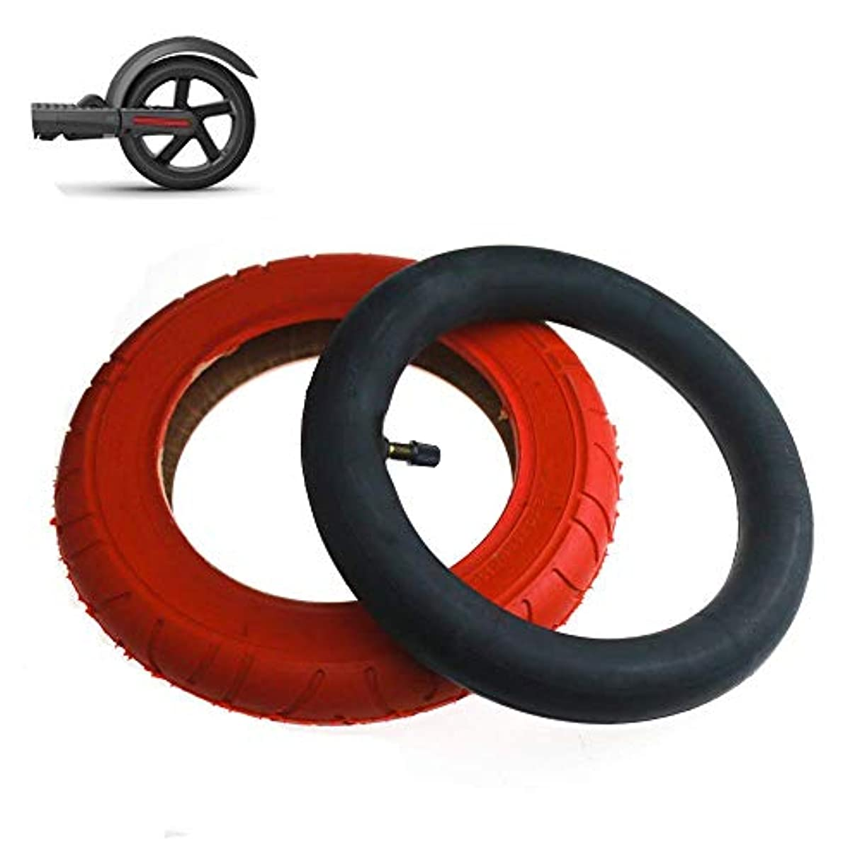 かき混ぜる香り高い電動スクータータイヤ10x2レッドインナーおよびアウターストレートマウスインフレータブルノンスリップ耐摩耗性M365 Pro修正交換ホイールに最適
