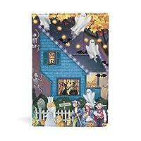 ブックカバー 文庫 a5 皮革 レザー 天使 幽霊 かぼちゃ 子供達 文庫本カバー ファイル 資料 収納入れ オフィス用品 読書 雑貨 プレゼント