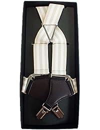 (ノムラ)NOMURA ホルスター サスペンダー 2コース ベージュ×ホワイト 3cm幅 男女兼用 日本製