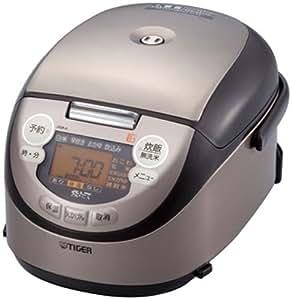TIGER 土鍋IH炊飯ジャー<炊きたてミニ>土鍋釜・黒 3合炊き ブラウン JKM-A550-T