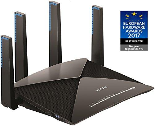 NETGEAR WiFi 無線LAN 親機 ルーター 11ad/ac 4600+1733+800Mbps (接続推奨 最大72台) R9000-100JPS
