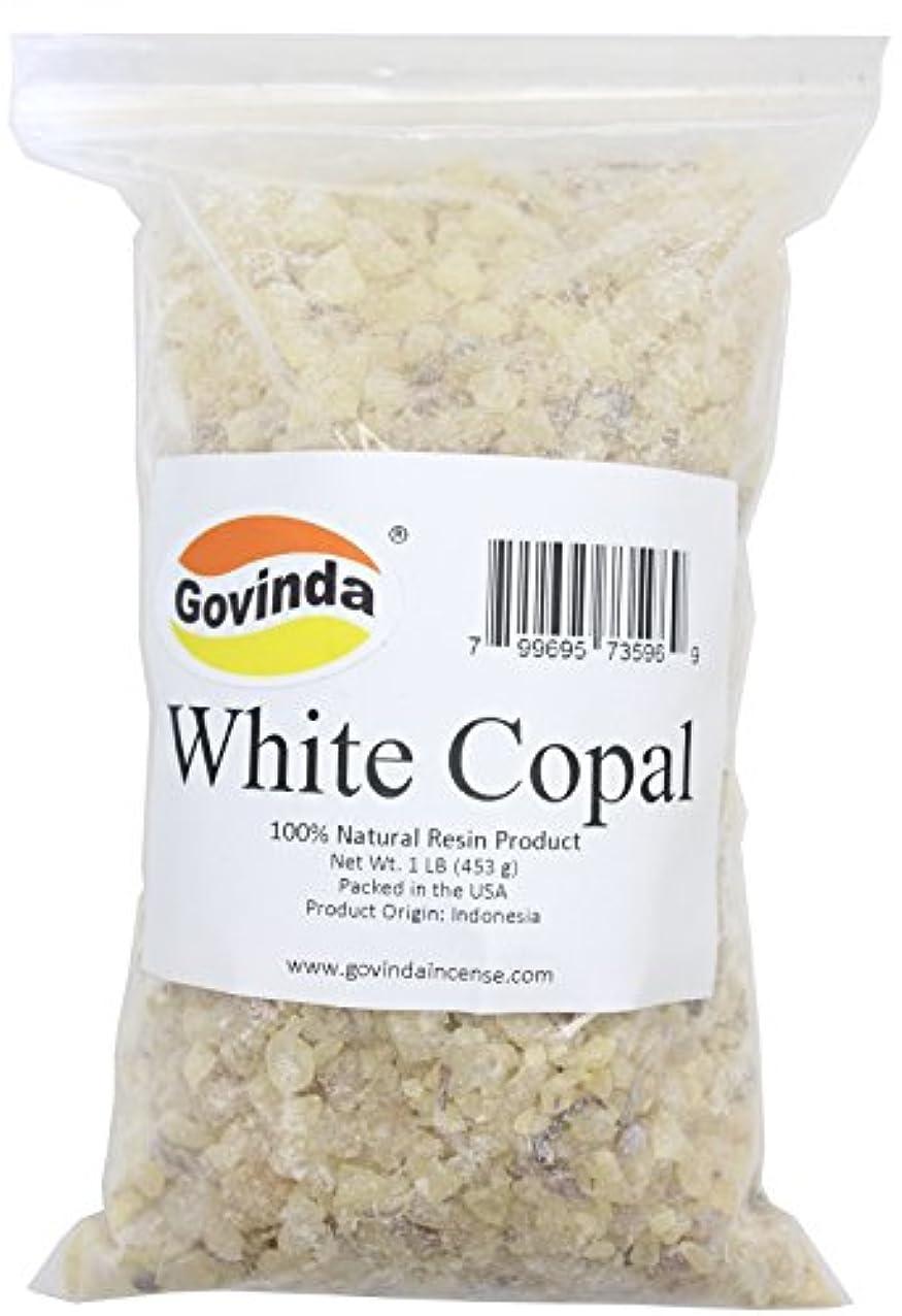 ほのめかすもろい調整可能Govinda - White Copal Incense Resin 0.5kg
