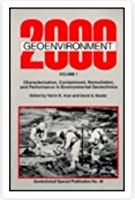 Geoenvironment 2000: Characterization, Containment, Remediation, and Performance in Environmental Geotechnics (Geotechnical Special Publication, No)