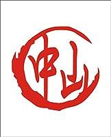 カッティングステッカー 赤 名前 ステッカー シリーズ 「中山」 なかやま Nakayama 苗字 姓名 姓 なまえ 名字 氏 漢字