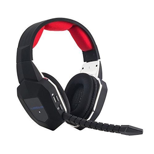 『HAMSWAN 2.4GHzワイヤレスゲーミングヘッドセット PC/MAC/PS3/PS4/XBOX 360などに対応 Kinect動作確認済 超多機能 ステレオ 着脱式マイク 充電式 ノイズキャンセル 高音質 音量調節機能付き』のトップ画像