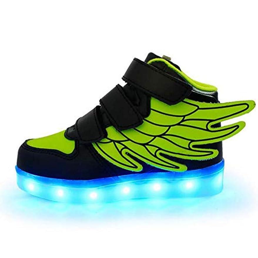 セラー影響力のある海里ボーイズシューズ合成スプリングライトアップシューズスニーカースパークリングキラキラ/フック&ループ/グリーン/ピンク/ロイヤルブルー用LED