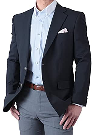 春夏 紺ブレザー シングル 2ツボタン メンズ ネイビージャケット 定番スタイル アイビールック 体型:AB体 (がっちり体型) 3号