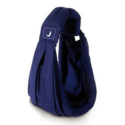 Anemos ベビースリング 新生児から使える 安心安全の 多機能 抱っこひも ダブルセーフティバックル (ネイビー)