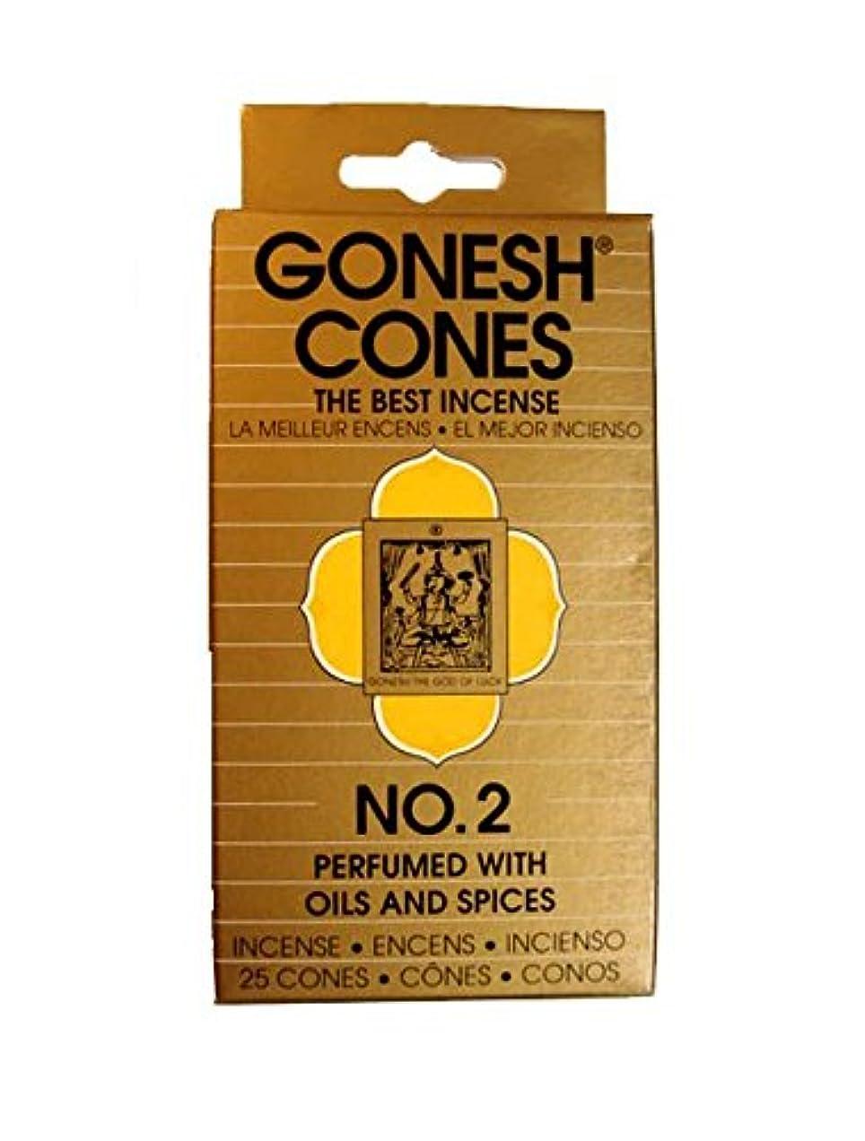 設計図軍ポルトガル語GONESH ナンバーインセンス コーンタイプ No.2 (OILS & SPICESオイル & スパイス)