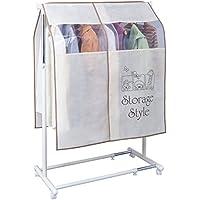 アストロ ハンガーラックカバー《StrageStyle》 ベージュ 通気性の良い不織布製 窓付きで見やすい スリットで衣類が取り出しやすい 613-24