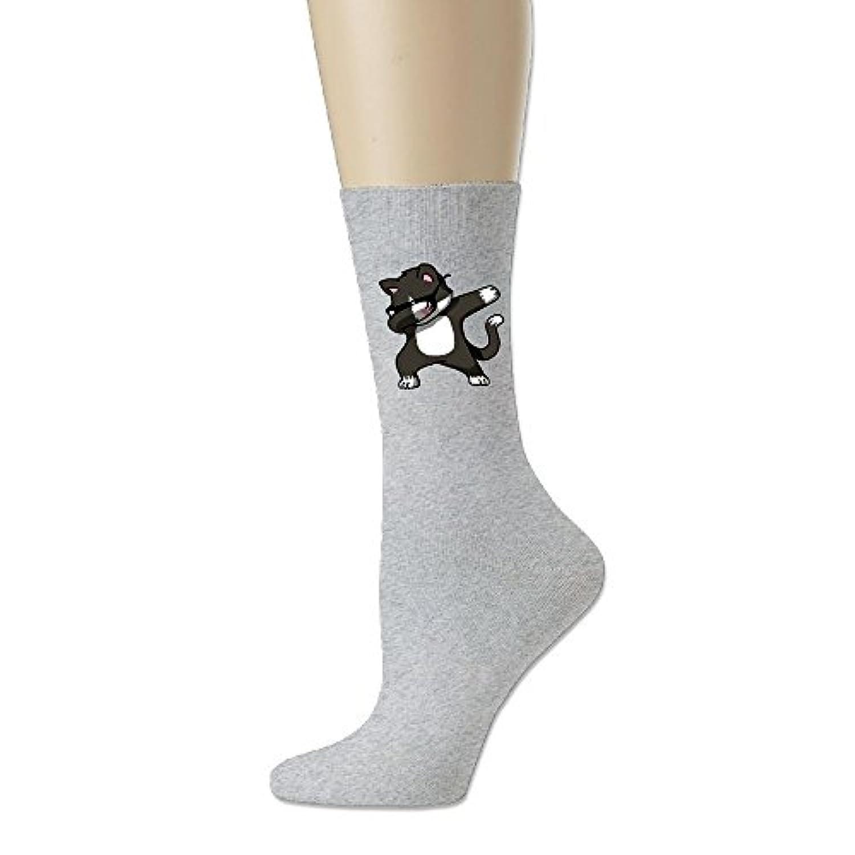 ソフト 靴下 アンクルソックス ダブダンス ダブポーズ ダビング 猫 プリント フットサポート付き ショートソックス 出先 ファッション Ash