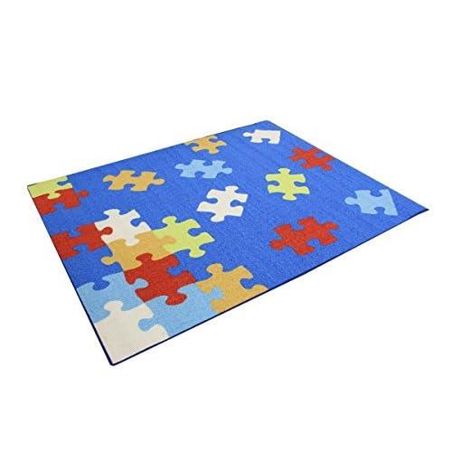 デスクカーペット「 クロス 」【IT】ブルー(#9800823) サイズ:110×133cm