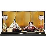 雛人形 親王平飾り【花ごろも】 [幅70cm] 平安優香 [193to1500-a4] 雛祭り